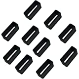 Desuper 10 pcs Silicone Fasteners for Fitbit Charge Wristband