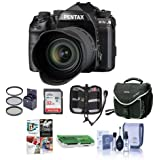 Pentax K-1 Mark II Digital SLR with HD D FA L 28-105mm F3.5/5.6 ED Lens - Bundle With 32GB SDHC Card, Camera Case, 62mm Filter Kit, Cleaning Kit, Memory Wallet, Card Reader, PC Software Package