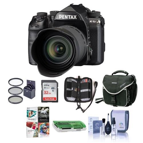 (Pentax K-1 Mark II Digital SLR with HD D FA L 28-105mm F3.5/5.6 ED Lens - Bundle with 32GB SDHC Card, Camera Case, 62mm Filter Kit, Cleaning Kit, Memory Wallet, Card Reader, PC Software Package)