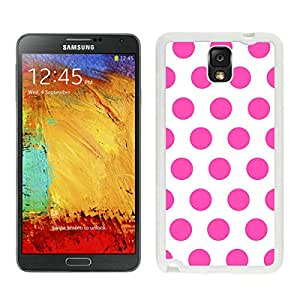 Polka Dot speck White and Pink Samsung Galaxy Note 3 Case White Cover