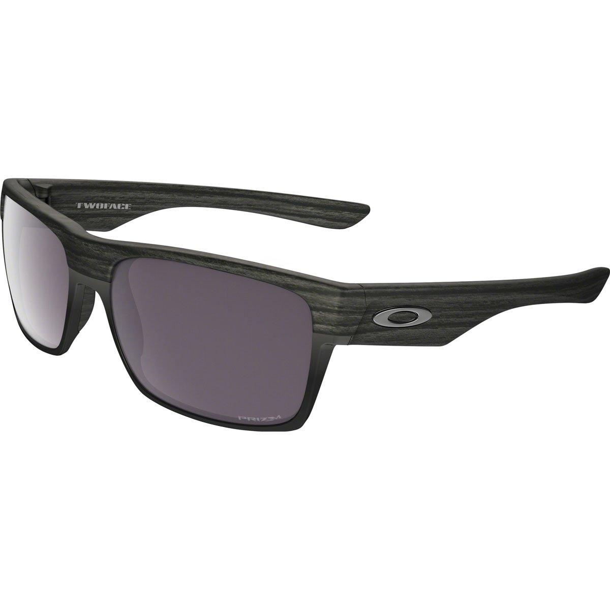Oakley Men's OO9189 TwoFace Square Sunglasses, Woodgrain/Prizm Daily Polarized, 60 mm by Oakley