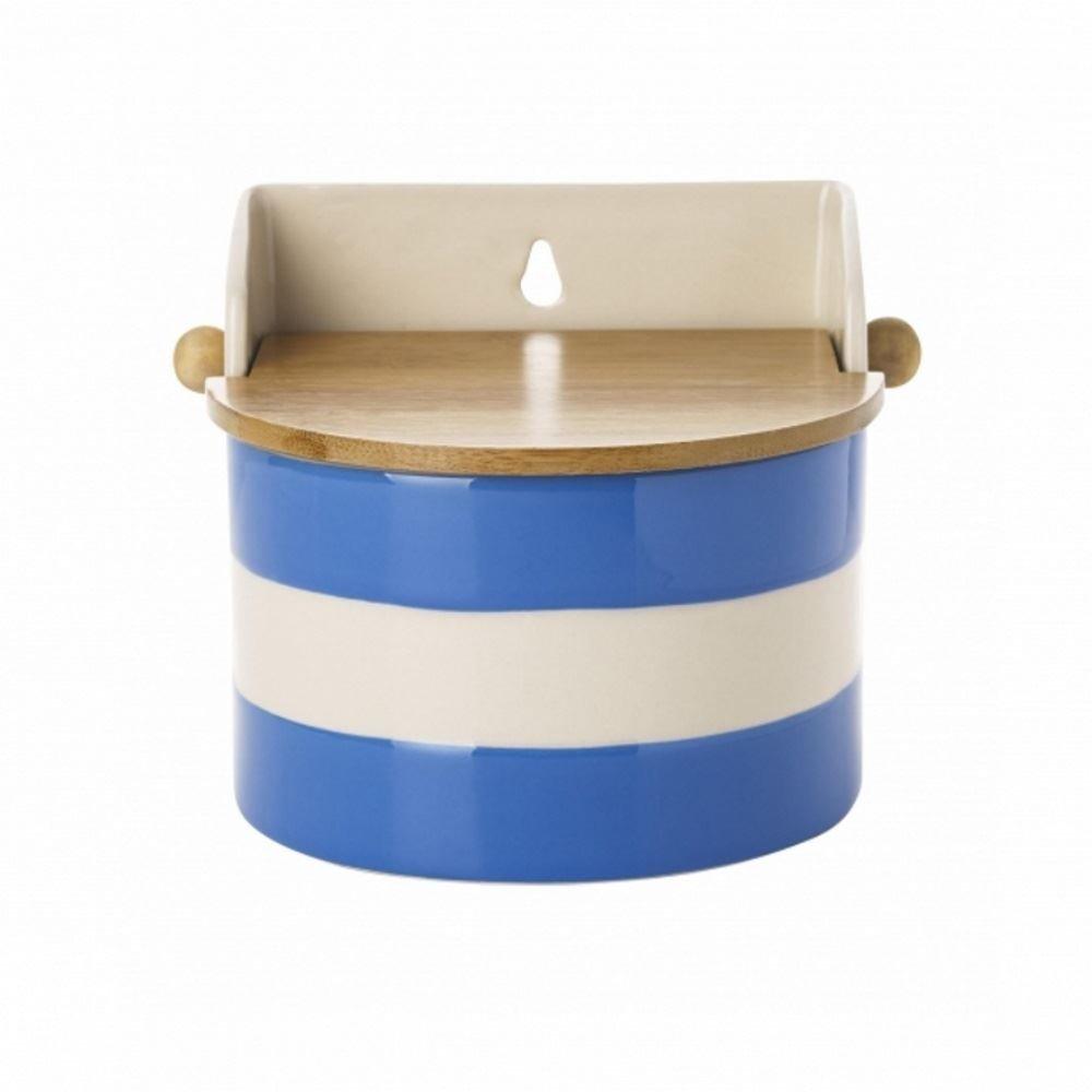 Cornishware Blue and White Stripe Stoneware Salt Box