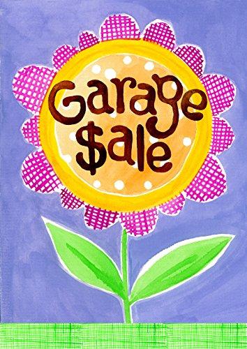 Toland Home Garden Garage Sale 28 x 40 Inch Decorative Colorful Flower Estate Yard for Sale Sign House Flag