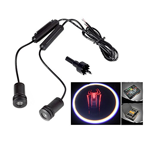 Lupar 5w 4th Generation 2x LED Car Door Laser Projector Ghost Shadow Step Light Logo (SPIDER)