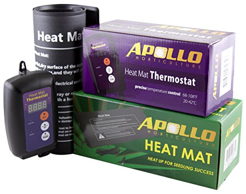 $24.99 Apollo Horticulture 9″x20″ Seedling Heating Mat and Digital Thermostat Combo Set 2019