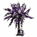 Nearly Natural 2128-PP Delphinium Decorative Stem, 38.5-Inch, Purple