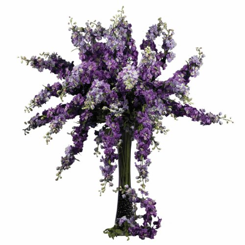 Nearly Natural 2128-PP Delphinium Decorative Stem, 38.5-I...