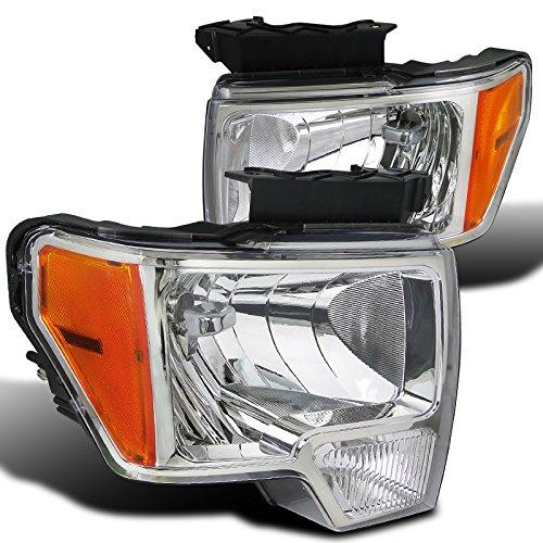 Spec-D Tuning 2LH-F15009-RS Ford F150 Xlt Xl Svt Stx, Chrome Housing Clear Lens Headlights