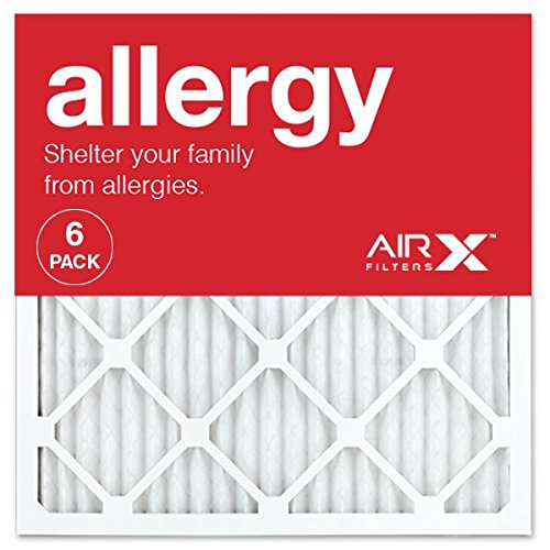 AIRx ALLERGY 20x20x1 MERV 11 Pleated Air Filter - Made in the USA - Box of 6 (Best Hvac Air Filter Brands)