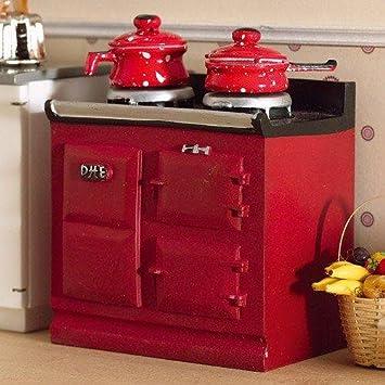 Amazon.es: The Dolls House Emporium Rojo Aga-estilo Estufa ...