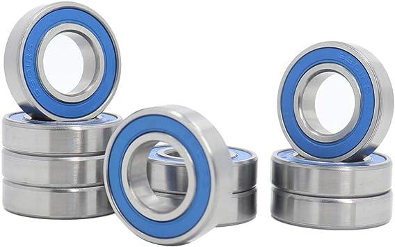 6901-2RS 12x24x6 10 PCS Ball Bearings Black Rubber Sealed Bearing