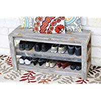 Natural Shoe Storage Bench