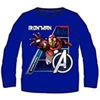 Camiseta Manga Larga Los Vengadores Avengers Azul