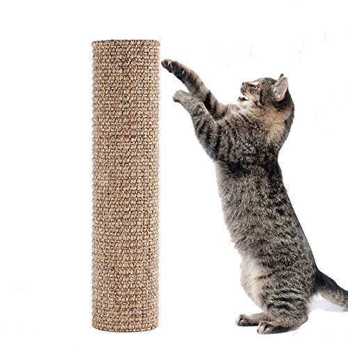 (Diversity World Sisal Quick Replaceable Cat Scratching Post for Your DIY Use(Striped,)