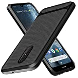 Nokia 4.2 Case, Yuanming Flexible Soft TPU Slim Light Rugged Durable Armor Snugly Fit Case for Nokia 4.2 (Black)