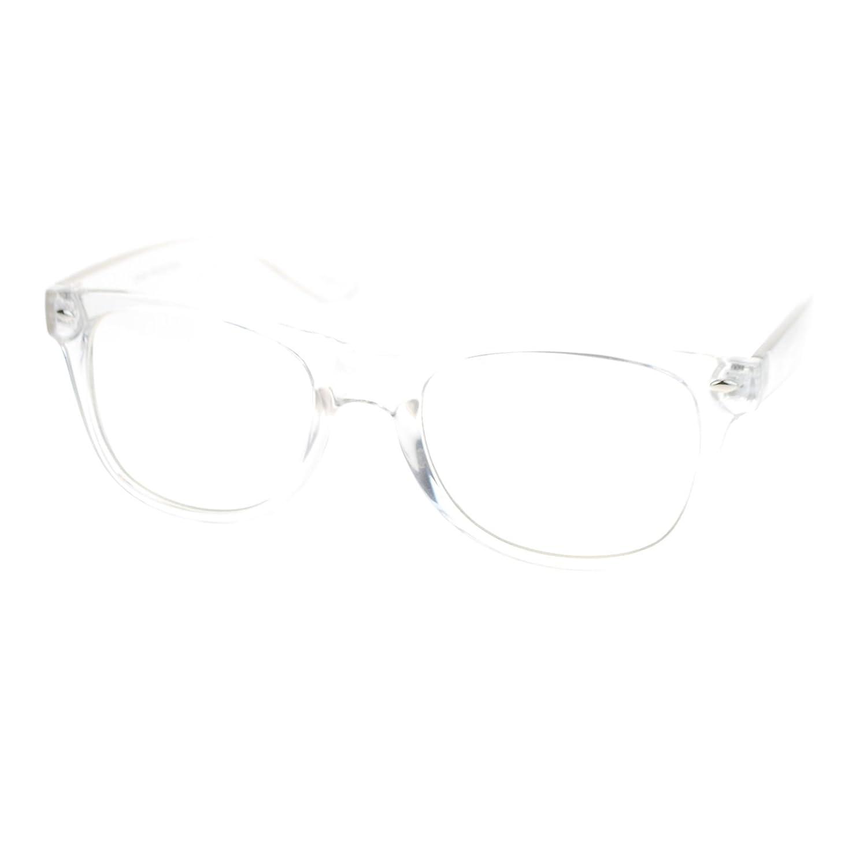 Amazon.com: 80s Nerdy Clear Transparent Thick Plastic Frame Optical ...