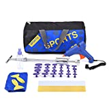 HOTPDR 40Pcs Paintless Dent Repair Tools Kit Gold Dent Lifter with Dent Removal Pulling Tabs Hot Melt Glue Gun Pro Glue Sticks for Dent Puller