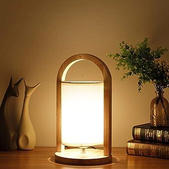 Lámpara De Mesa Japonesa Lámpara De Estudio De Madera Arte Simple ...