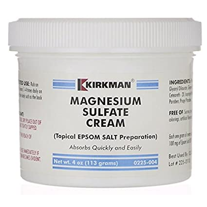 Magnesium Sulphate Cream, 4 oz (113 g) by Kirkman Labs