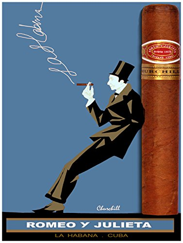Romeo Y Julieta Cuban Cigars (Quality poster in Paper or Canvas.Cuban cigar ad.Romeo y Julieta Churchill.)