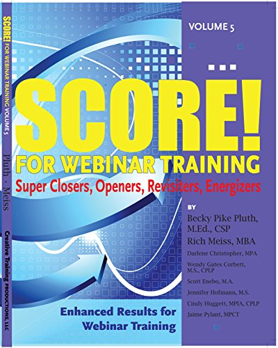 SCORE! for Webinar Training, volume 5