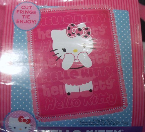 (Hello Kitty Springs Creative Fuchsia Pink Plush Throw Blanket Kit Do It Yourself)