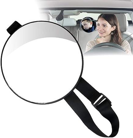 Gran espejo de seguridad ajustable para un fácil posicionamiento. Está diseñado para facilitar al co