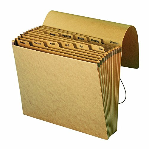 Smead Expanding File, 12 x 10 Inches, January-December, Kraft, 1 Each (70187)