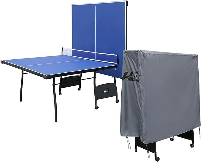 Pingpong Mesa para Interior Exterior Tamaño Completo Mesa de Tenis Plegable 4 Tablas 274 * 152 * 76 cm: Amazon.es: Deportes y aire libre