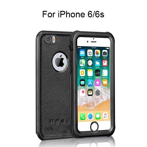 HiMoliwa Phone Case Compatible with iPhone 6/6s Waterproof Case(4.7in) OL Series 6.6ft Underwater Waterproof Shockproof Dustproof Snowproof Case with Vehicle-Mounted Design (Black)