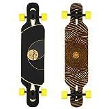 Loaded Boards Tan Tien Bamboo Longboard Skateboard Complete (86a Stimulus, Flex 2)