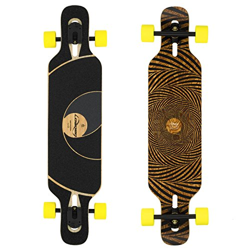 Loaded Boards Tan Tien Bamboo Longboard Skateboard Complete (86a Stimulus, Flex 2)
