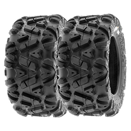 (SunF 25x10-12 25x10x12 ATV UTV A/T Replacement Race 6 PR Tubeless Tires A033 POWER I, [Set of 2])