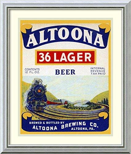 Framed Wall Art Print | Home Wall Decor Art Prints | Altoona 36 Lager Beer by Vintage Booze Labels | Modern - 36 Lager Altoona Beer