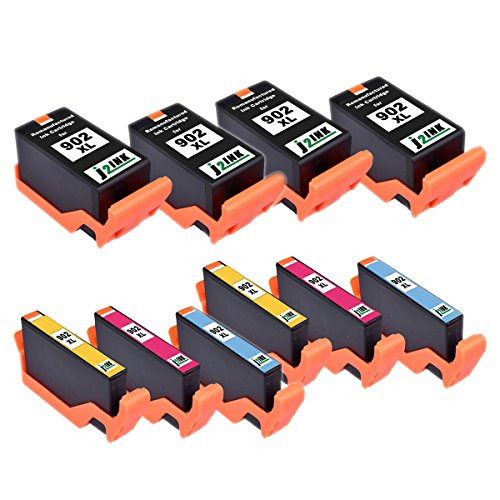 J2INK 10 Pack Remanufactured High Yield Ink Cartridges for HP 902XL HP 902 Black Color OfficeJet Pro 6968 OfficeJet Pro 6978