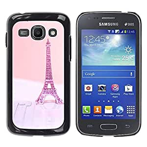 LASTONE PHONE CASE / Slim Protector Hard Shell Cover Case for Samsung Galaxy Ace 3 GT-S7270 GT-S7275 GT-S7272 / Cool Eifel Paris Pink Peach France
