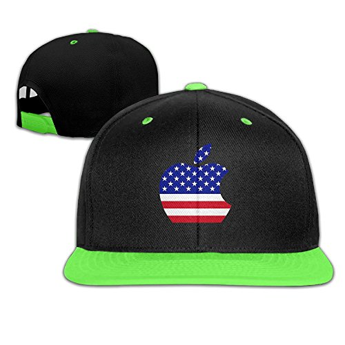 Chanel Kids Costume (WYUZHEN Kid's Cool Apple USA Flag Hip-hop Snapback Hat Caps KellyGreen)