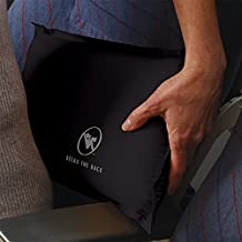 Self-Inflating Back Rest / Compressible Suitcase-Friendly Lumbar Support Pillow (Slate)