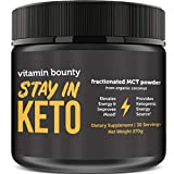 Stay in Keto - MCT Oil Powder from Organic Coconuts - 0g Net Carbs | Keto Friendly Energy Source | Perfect for Coffee Creamer, Smoothies & Sustained Energy
