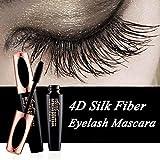 Ginkago 4D Silk Fiber Eyelash Mascara Extension Makeup Black Waterproof Kit Eye Lashes