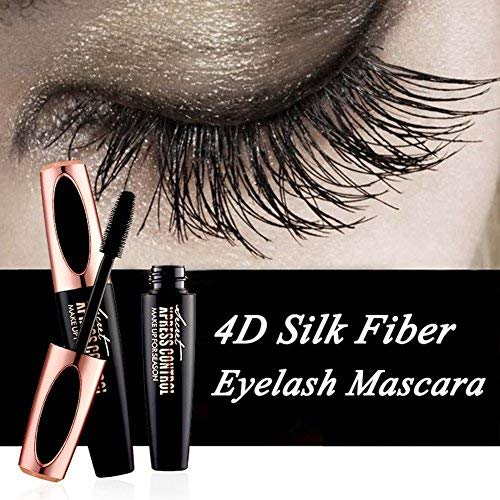 Ginkago 4D Silk Fiber Eyelash Mascara Extension Makeup Black Waterproof Kit Eye Lashes
