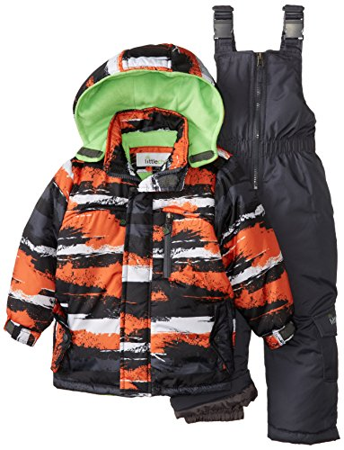 Big Chill Baby Boys' Camo Stripe Snowsuit, Orange, 12 Months
