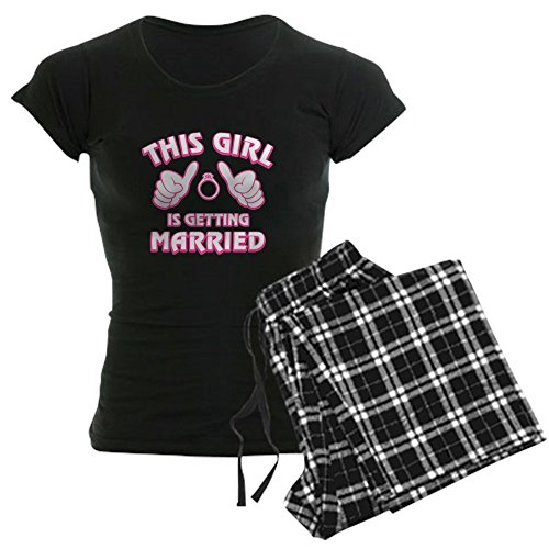 CafePress This Girl Getting Married Womens Novelty Cotton Pajama Set, Comfortable PJ Sleepwear (Christmas On Married Day Getting)