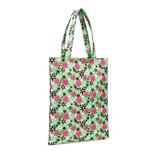 Green Handbag Capacity Striped Canvas Shoulder Large Shoulder Soft Zipper Youcoco Wide Bags Women Bags HxAaqYtO