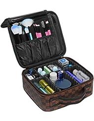 Ace Teah Travel Makeup Bag Cosmetic Case Makeup Bag Organizer,Brown