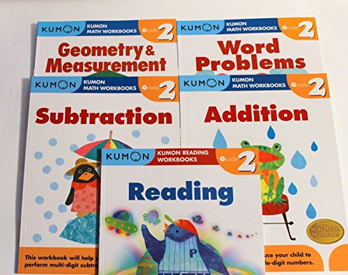 - Kumon Grade 2 Set (5 Books) : Addition, Subtraction, Geometry & Measurement, Word Problem and Reading