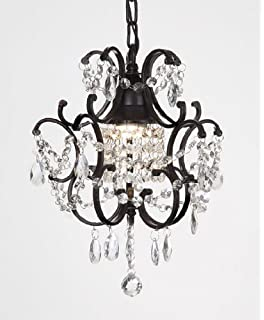 Crystal And Iron Chandeliers: CHANDELIER WROUGHT IRON CRYSTAL CHANDELIERS H14