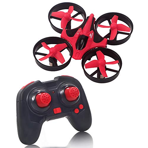 Lumiparty Mini Drone, Quadcopter Drone with Headless Mode, One-Key Return, 3D Flips & Roll, 2.4G 4 Channel 6 Axis Gyro, Remote Control RC Drone for Kids (Red)