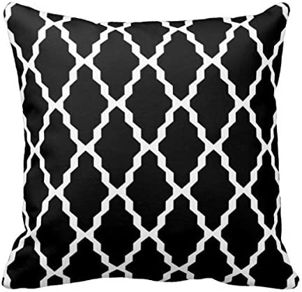 Image of MARCOMAX Moroccan Trellis In Black And White Home Decor Pillow Cover