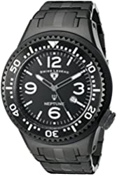 Swiss Legend Men's 21819P-BB-11-SA Neptune Force Black Ion-Plated Stainless Steel Watch